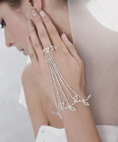guanto da sposa gioiello