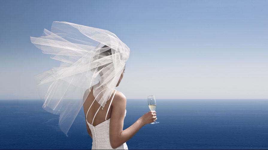 il velo corto da sposa