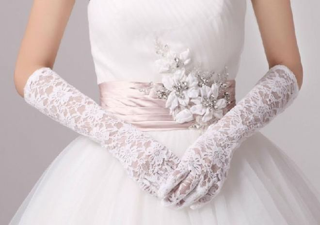 guanti da sposa lunghi inpizzo