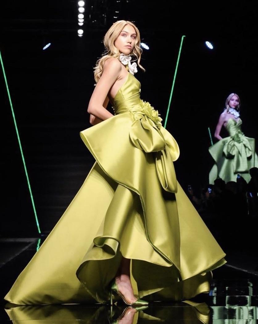 Elisabetta polignano abito da sposa colorato decollete longuette in