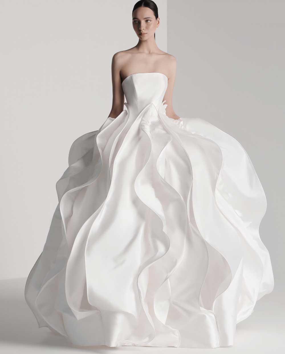 abito da sposa Antonio Riva ampio stile principessa