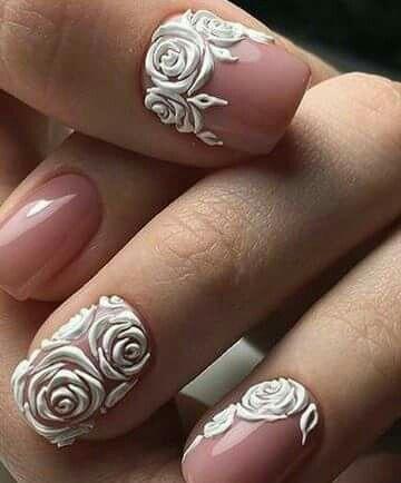 manicure sposa nail art effetto 3D