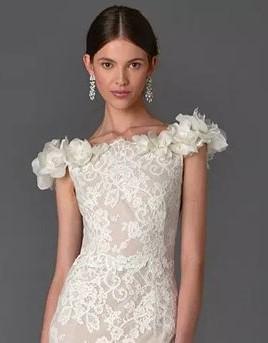 vestito da sposa con spalline