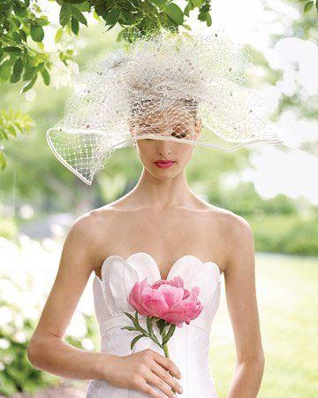 cappello da sposa romantico in tulle a rete