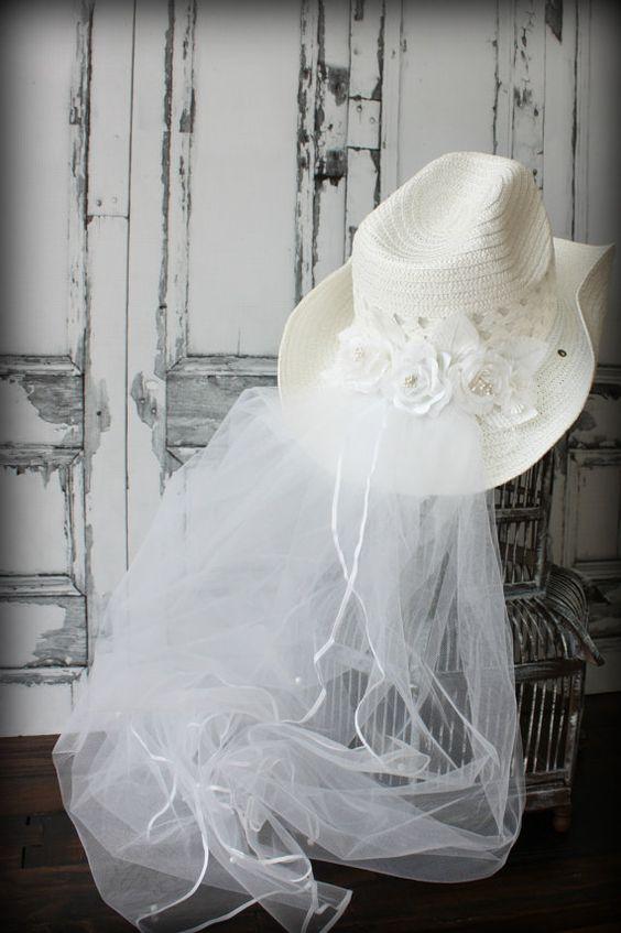 cappello da sposa country, cowgirl