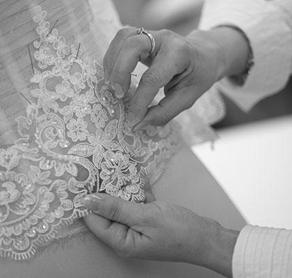 abito da sposa su misura sartoria