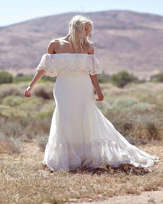 sposa curvy boho chic