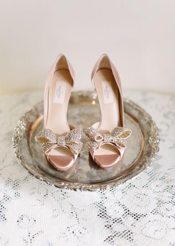 open toe sposa raso rosa con fiocco glitter