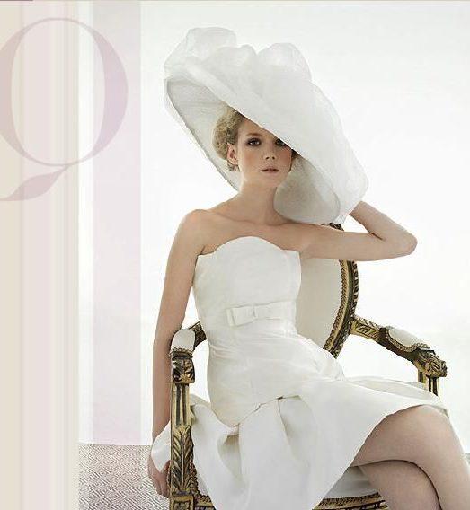 cappello da sposa a tesa larga in organza