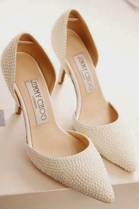scarpe sposa in perle jimmy choo