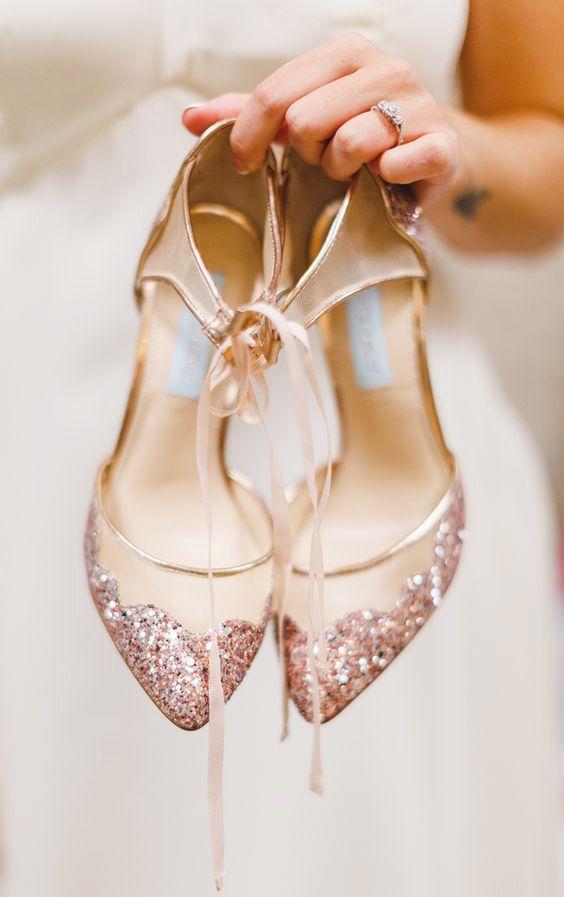 scarpe da sposa rosa