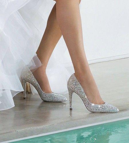 decolletè da sposa glitter