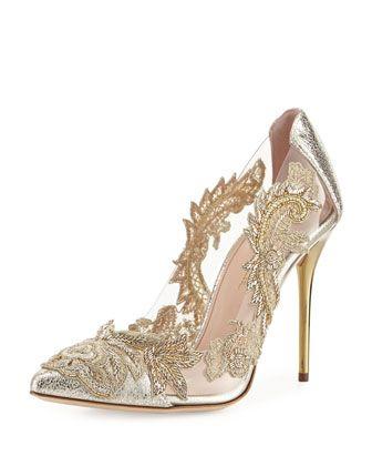 scarpe da sposa con pizzo