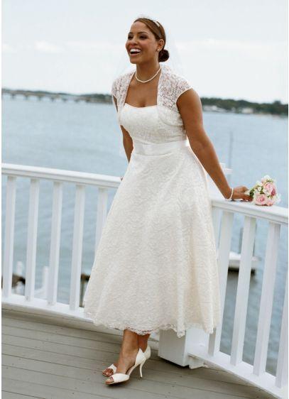 vestito da sposa curvy anni '50 con pizzo