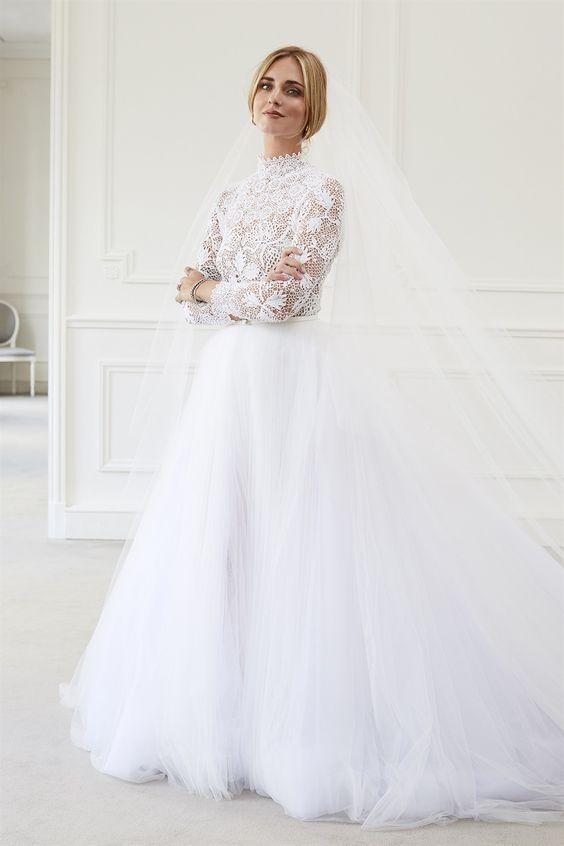 abito da sposa Dior di Chiara Ferragni