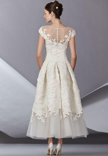 abito da sposa longuette
