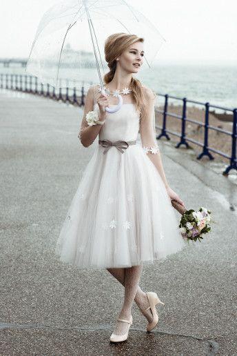abito da sposa corto anni '50 '60 romantico