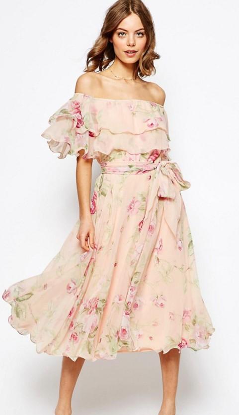abito da sposa corto fantasia floreale