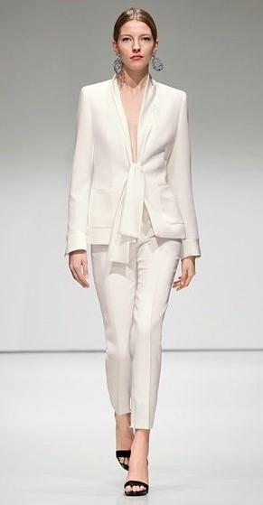tailleur pantalone bianco