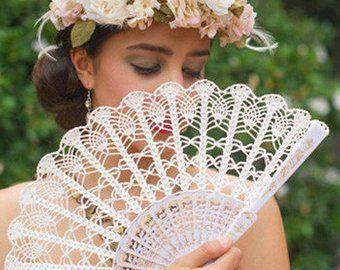ventaglio da sposa fatto ad uncinetto
