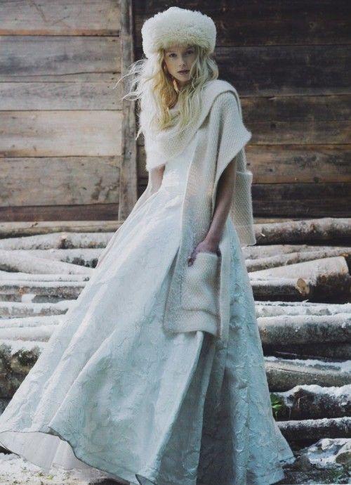 stola da sposa invernale fatta ai ferri