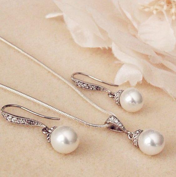 parure di perle sposa