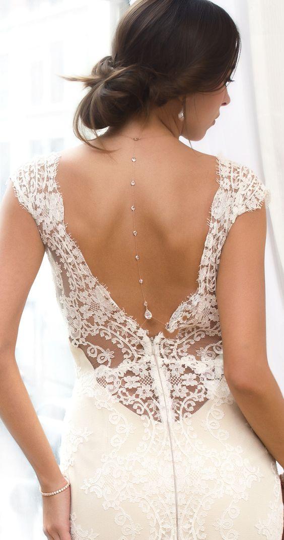 gioiello da sposa per abito con schiena nuda