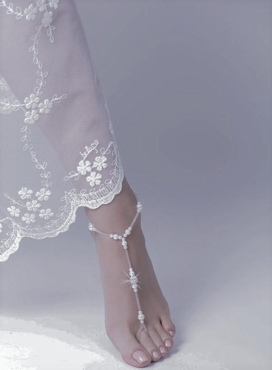 sandali piede nudo gioiello