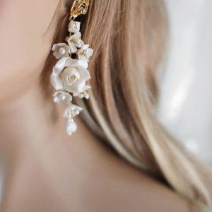 orecchini floreali sposa