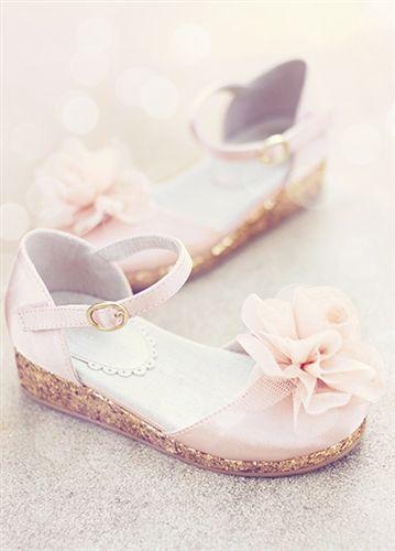 sandali aperti rosa bimba damigella di nozze