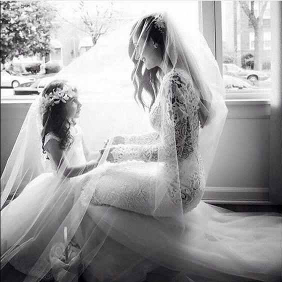 Sposa con figlia