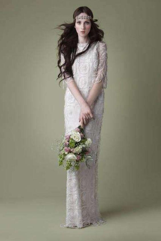 abito da sposa fatto ad uncinetto