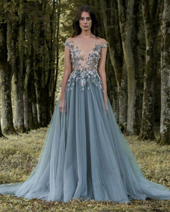 abito da sposa colorato azzurro