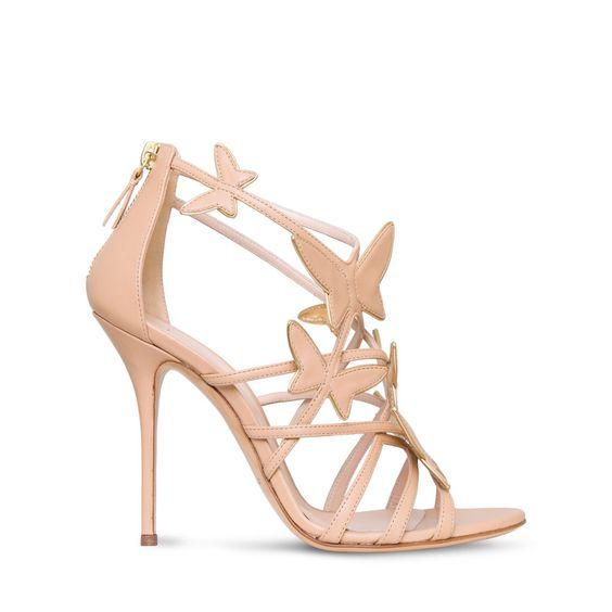 scarpe da sposa con farfalle  sandali Casadei
