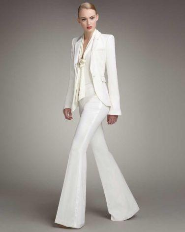 tailleur pantalone androgino sposa