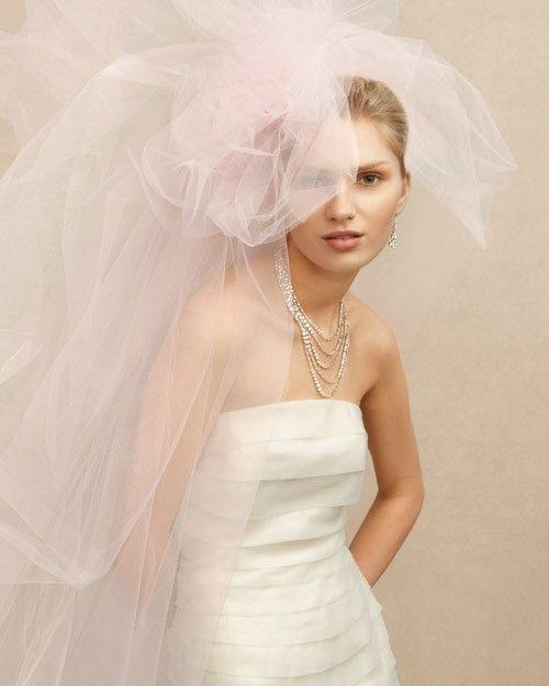 velo da sposa particolare  in tulle