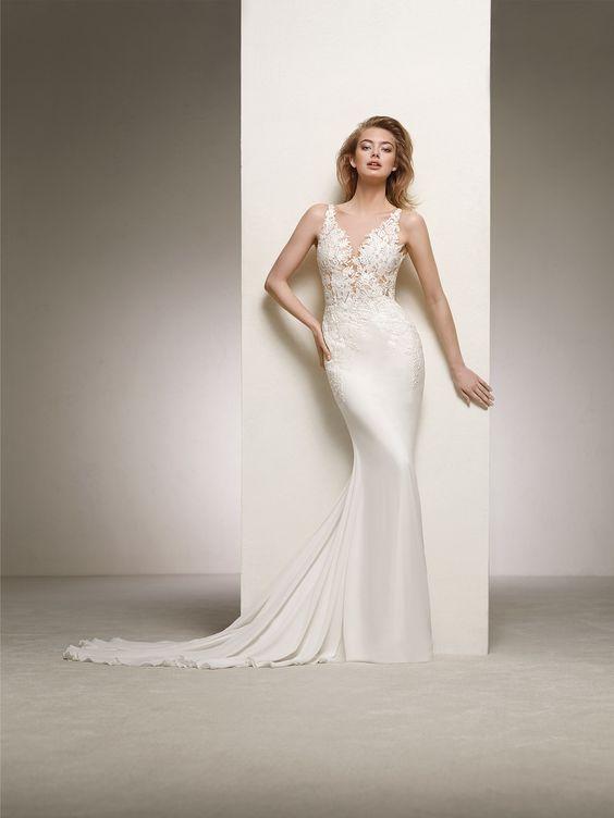 abito da sposa a sirena ispirato allo stile della diva Rita Hayworth