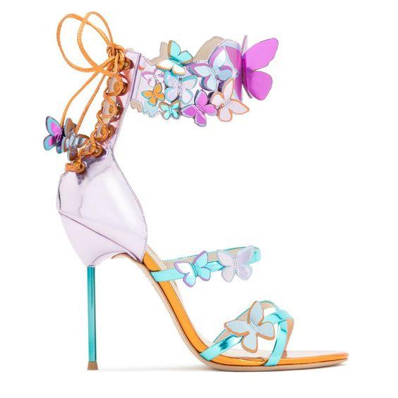 sandali con farfalle colorati  Sophia Webster