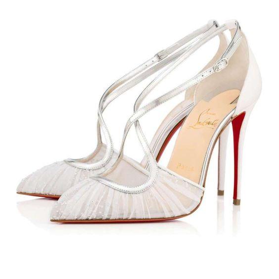 scarpa spezzata da sposa in tulle