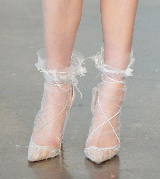 tulle socks  calzini tulle sposa