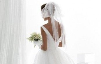 velo da sposa in tulle a fiocco