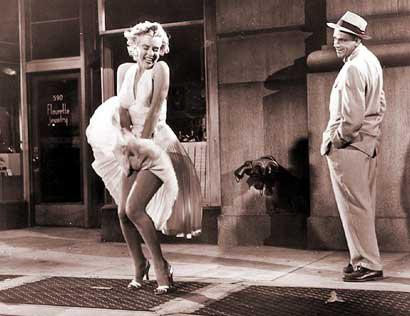Marilyn Monroe quando la moglie è in vacanza