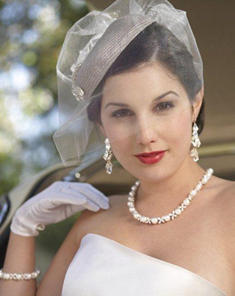 cappellino sposa anni 50