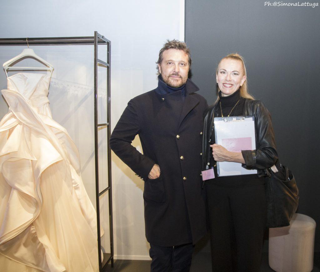 La Fata Madrina Alessandra Cristiani con lo stilista Antonio Riva