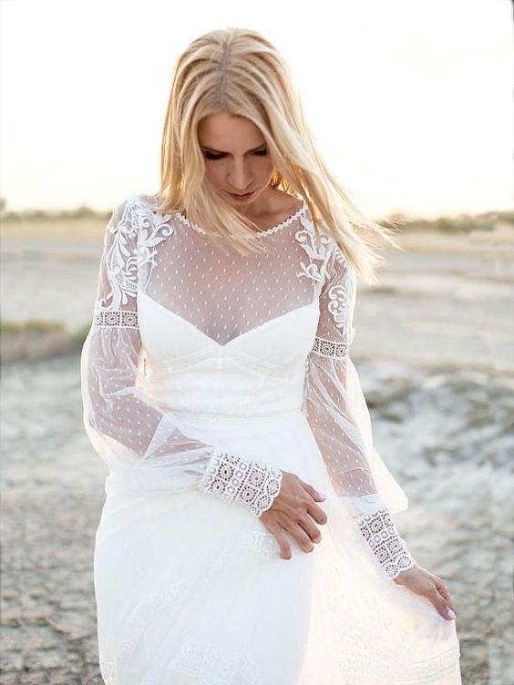 abito da sposa romantico boho chic