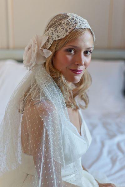 velo da sposa plumetis a cloche