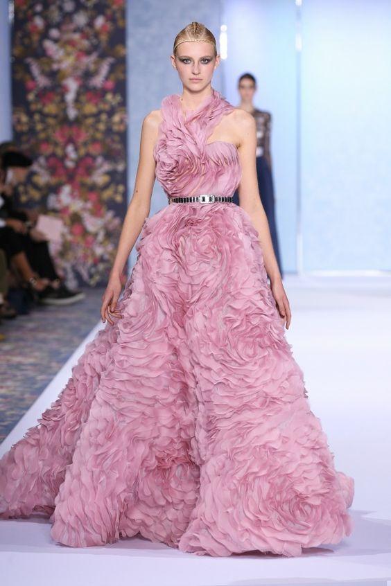 vestito da sposa rosa Ralph  Russo Haute Couture