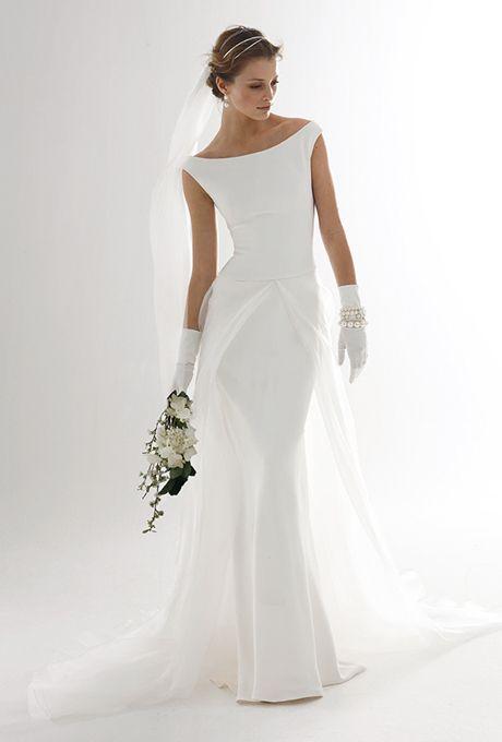 abito le spose di giò con scollatura a barchetta