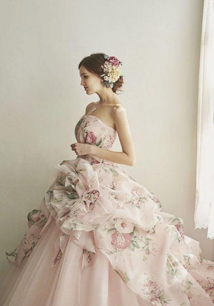 abito da sposa baroque rosa