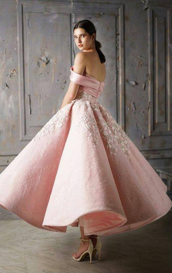 vestito da sposa rosa ispirato allo stile vintage anni 50